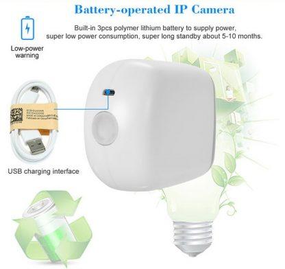 Cámara IP CDP-BC1 wireless con batería y sensor PIR-2