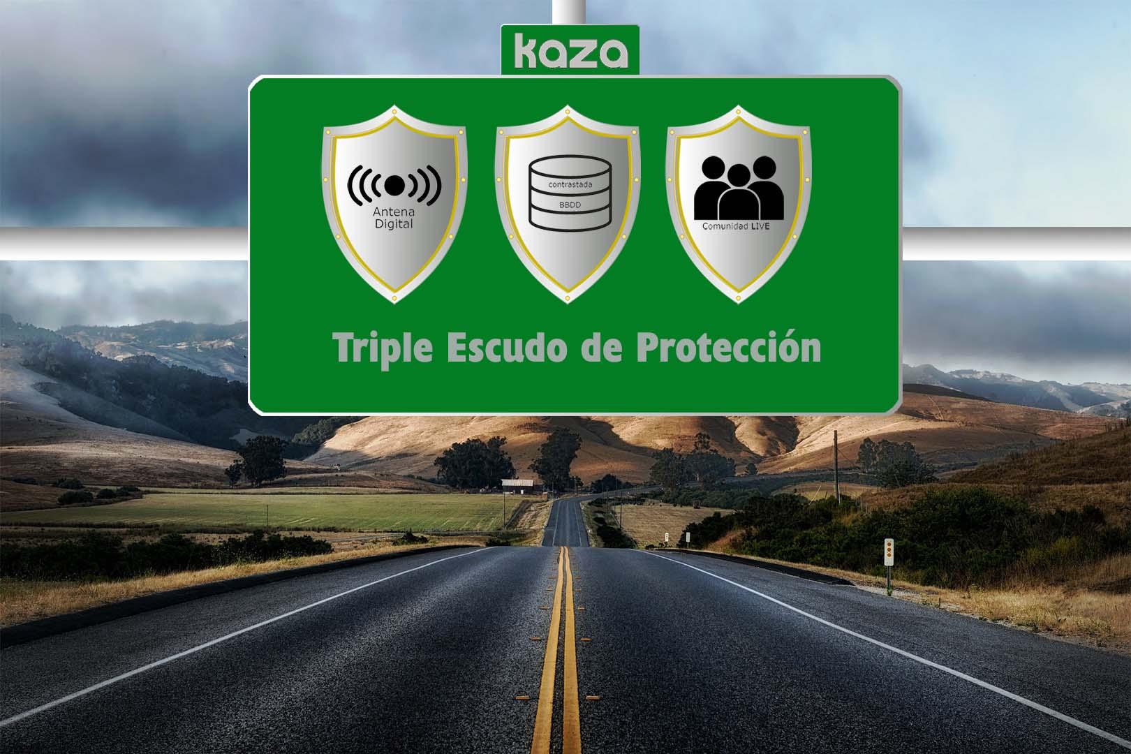 Triple Escudo de Protección Kaza