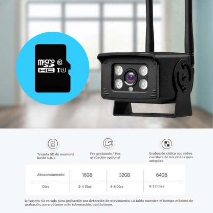 La cámara 3G-4G 100% Inalámbrica CDPB30A